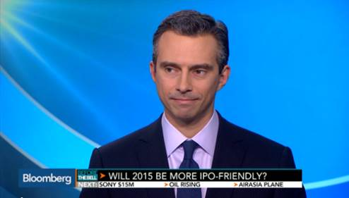 Bloomberg: IPO Market Will Be `Pretty Strong' in 2015: Gellert