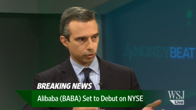 WSJ Live: Alibaba prices IPO at $68 a share ahead of New York stock flotation